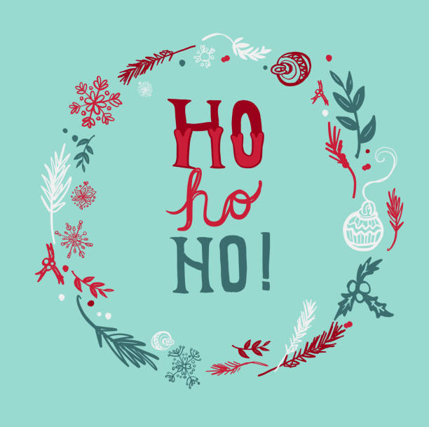 Best Ho Ho Ho Illustrations, Royalty-Free Vector Graphics ...