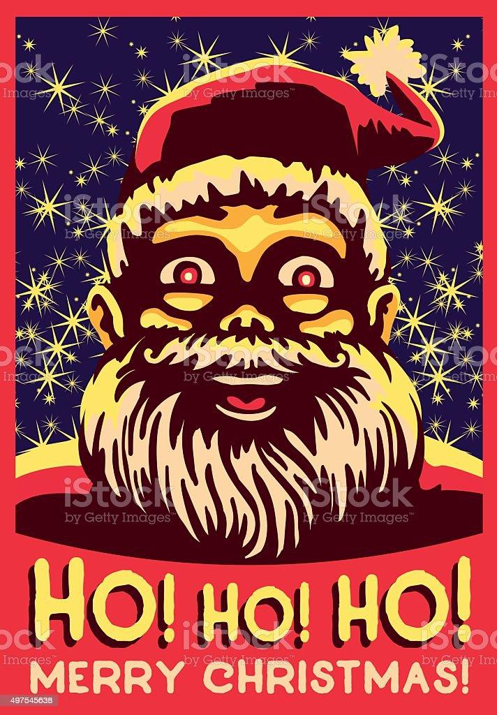 Babbo Natale Ho Ho Ho.Ho Ho Ho Vintage Fumetto Di Babbo Natale Grasso Belly Ride