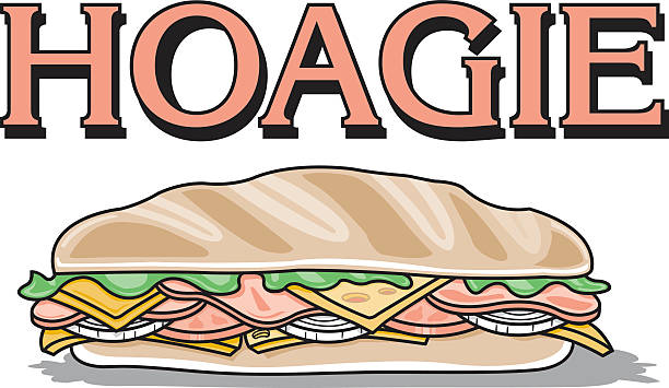 hoagie sandwich - sub sandwich stock illustrations, clip art, cartoons, & icons