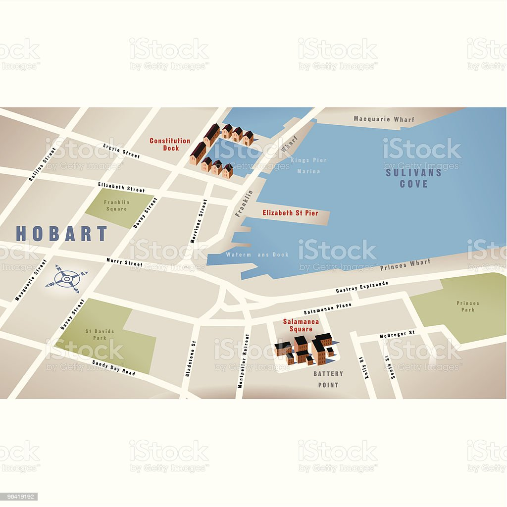 Australia Map Hobart.Hobarttasmania Australia Map Stock Vector Art More Images Of