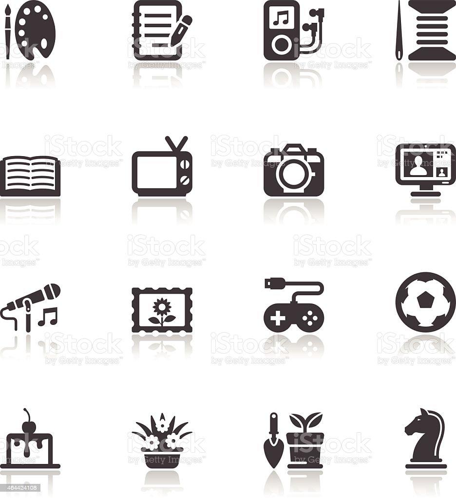 Hobbies Icons vector art illustration