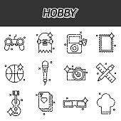 Hobby flat icons set . Vector illustration EPS 10