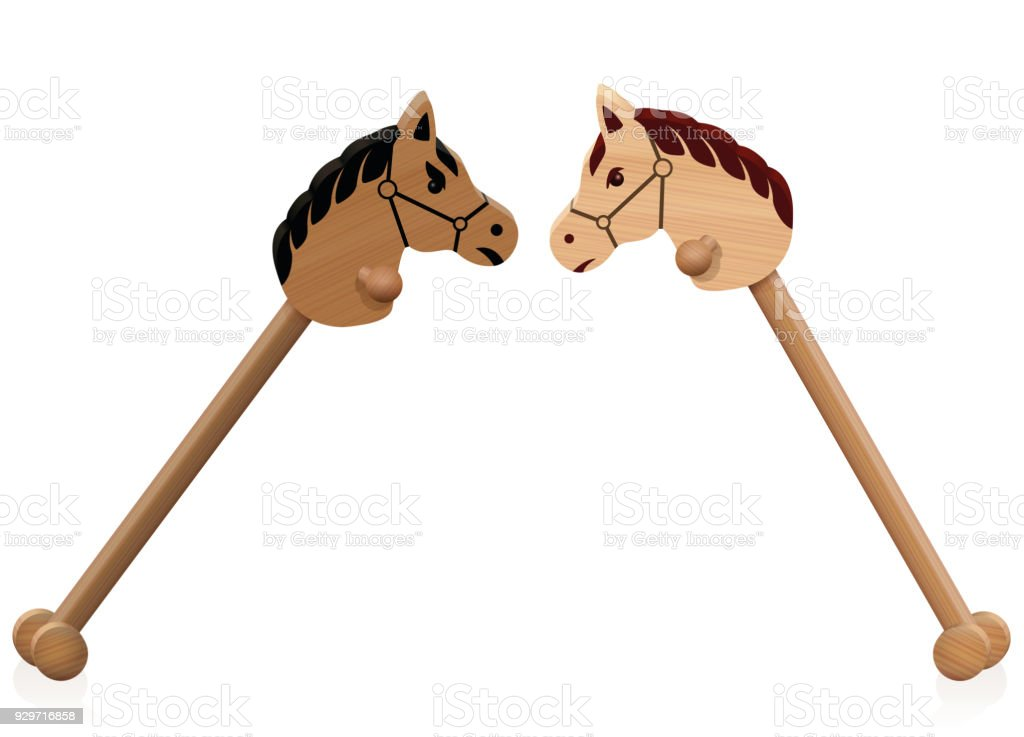 Hobby Horse Fight Symbol For Problem Children Educational Conflict
