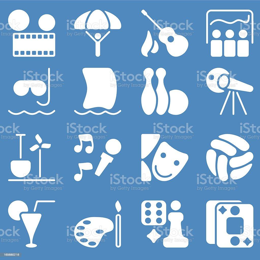 Hobby icons vector art illustration