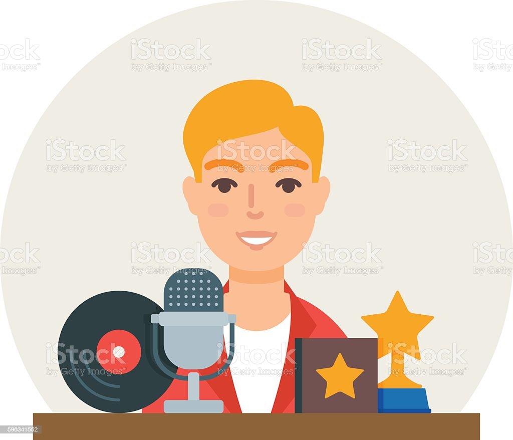 Hobby - music. Singer vector illustration flat style royalty-free hobby music singer vector illustration flat style stock vector art & more images of adult