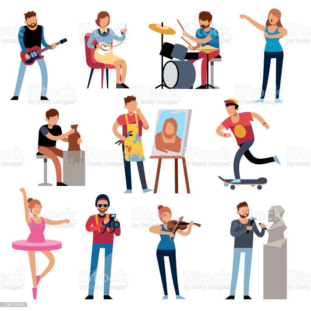 Ilustración De Personas De La Manía Gente De Profesiones