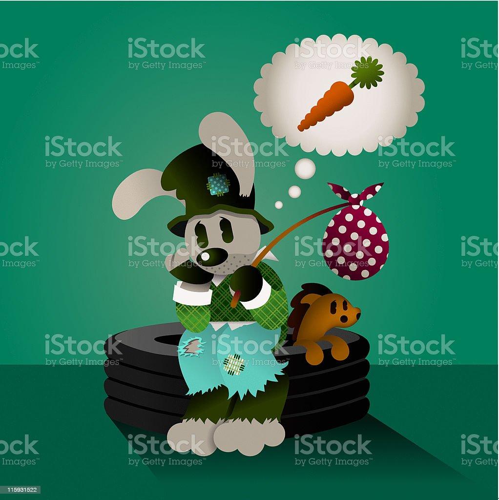 Hobo Hobart & Hossy vector art illustration