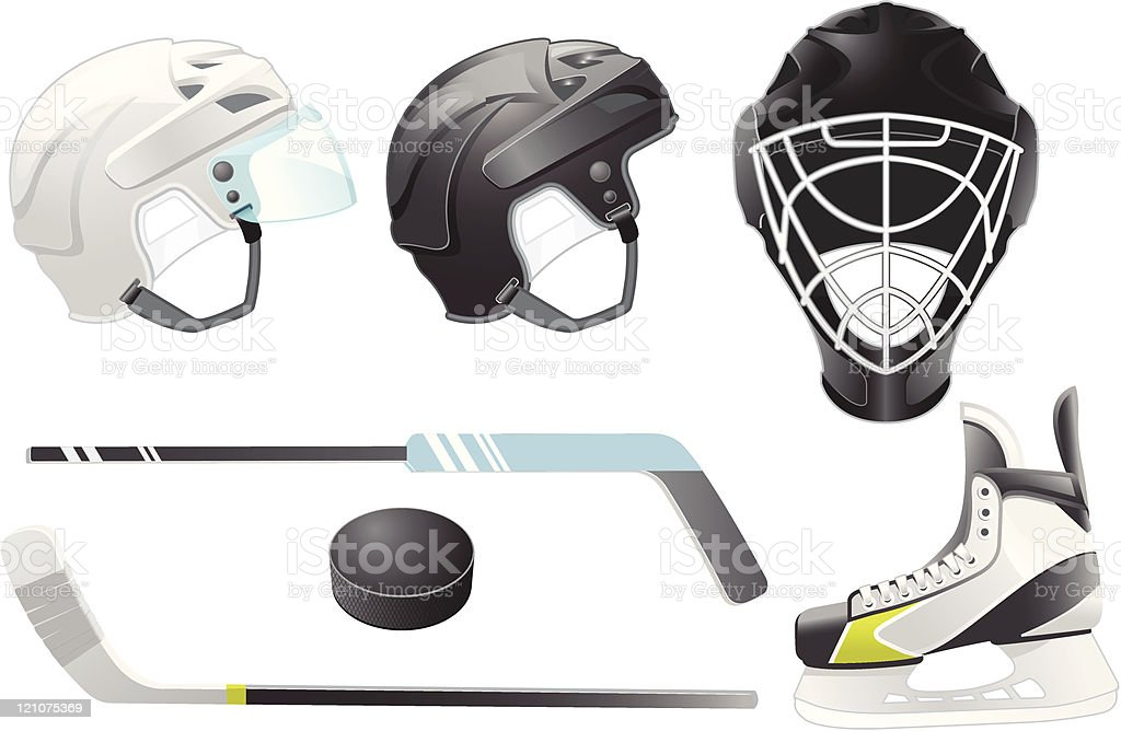 Hockey accessories royalty-free hockey accessories stock vector art & more images of color image