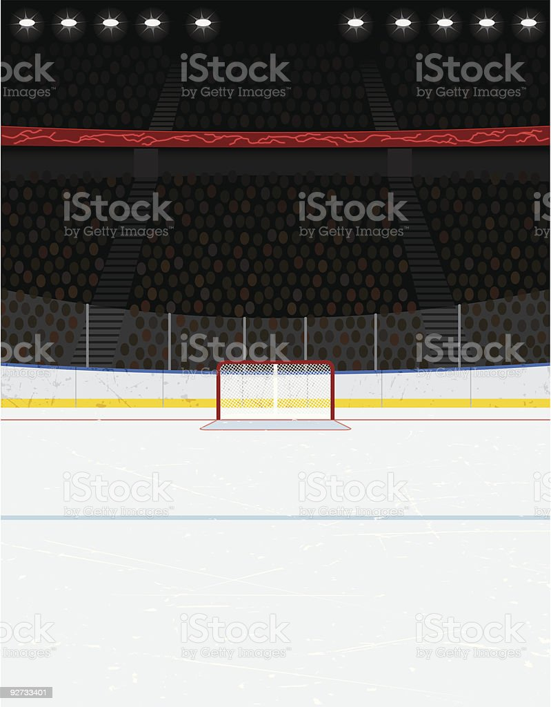Hockey Arena Background (Version without Scoreboard) vector art illustration