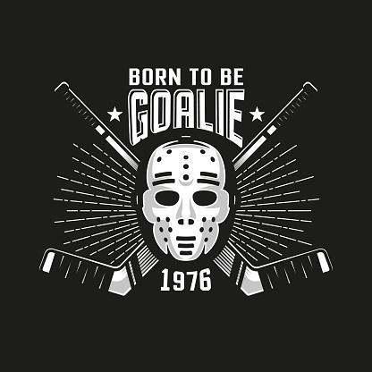 Hockey authentic retro emblem