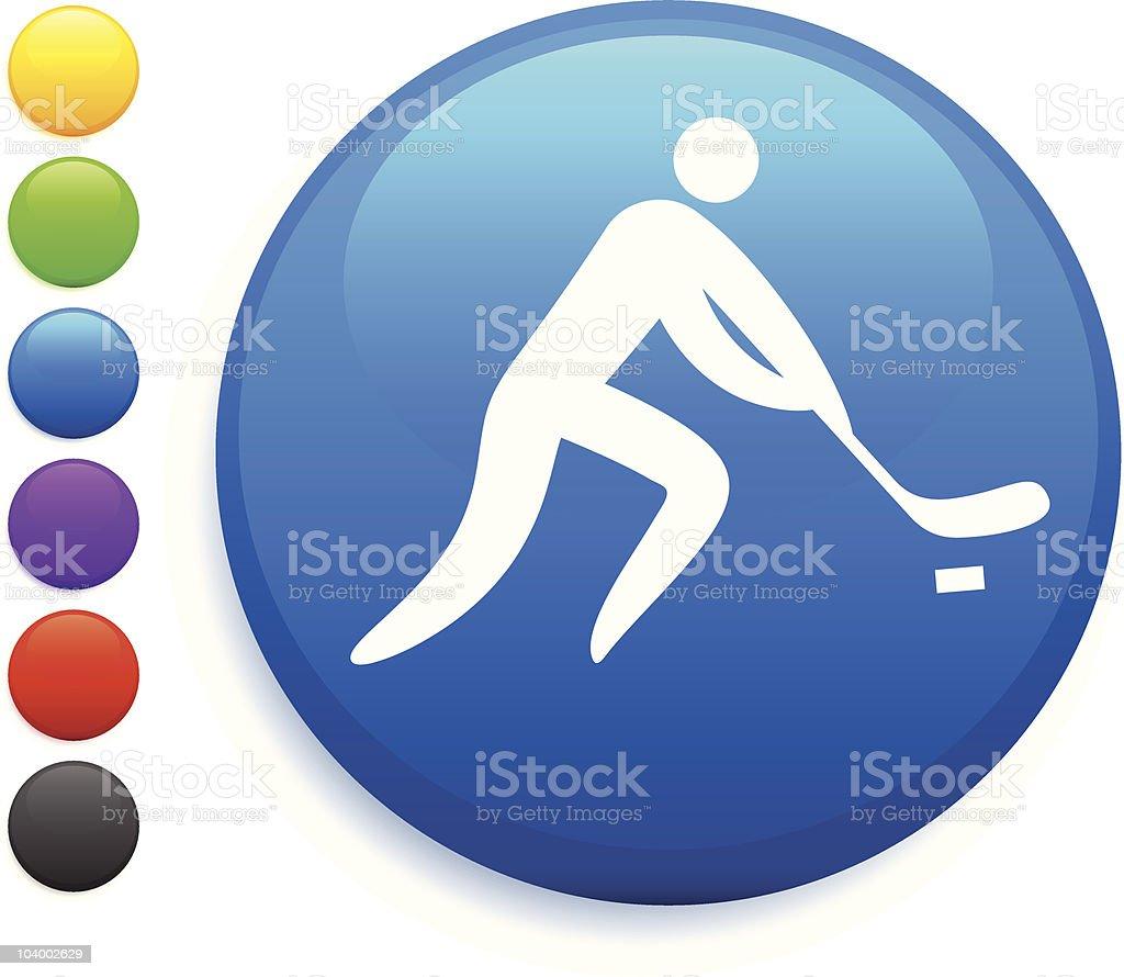Hockey Blue Button Icon royalty-free stock vector art