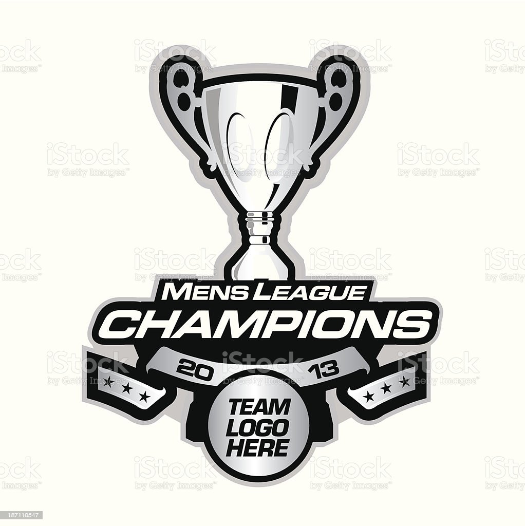 Hockey Championship patch vector art illustration