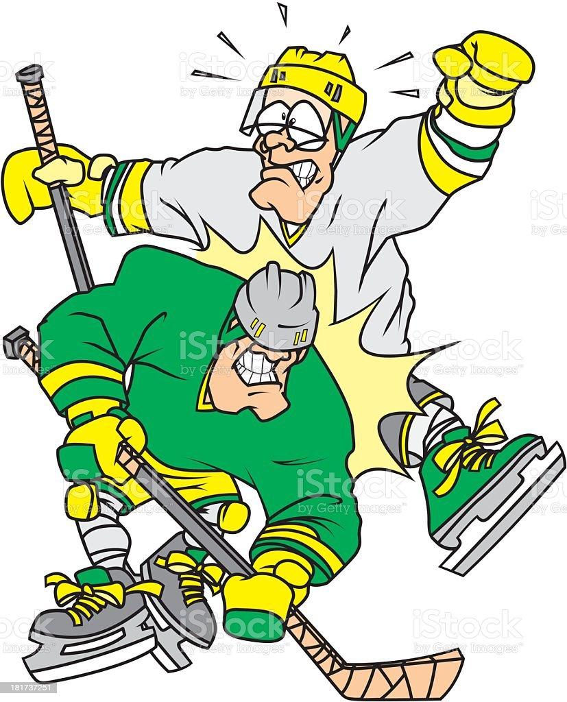 Hockey Check royalty-free stock vector art