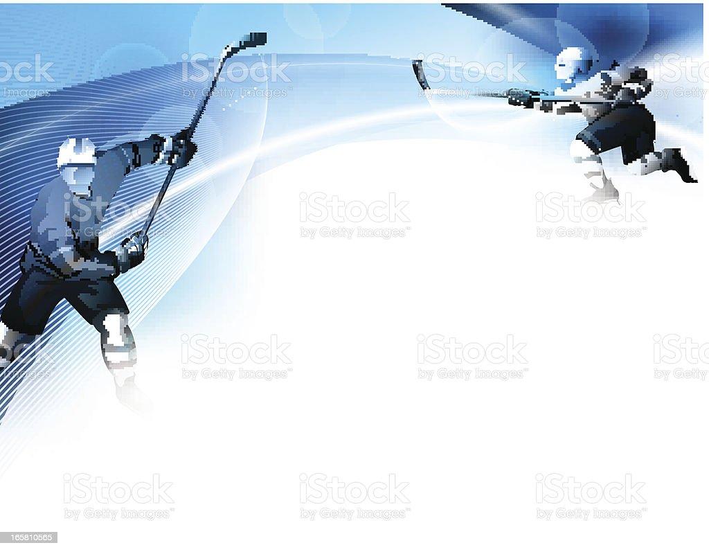 Hockey Design vector art illustration