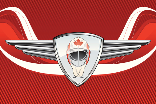 Hockey Emblem in background