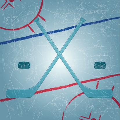 Hockey Emblem in grunge background