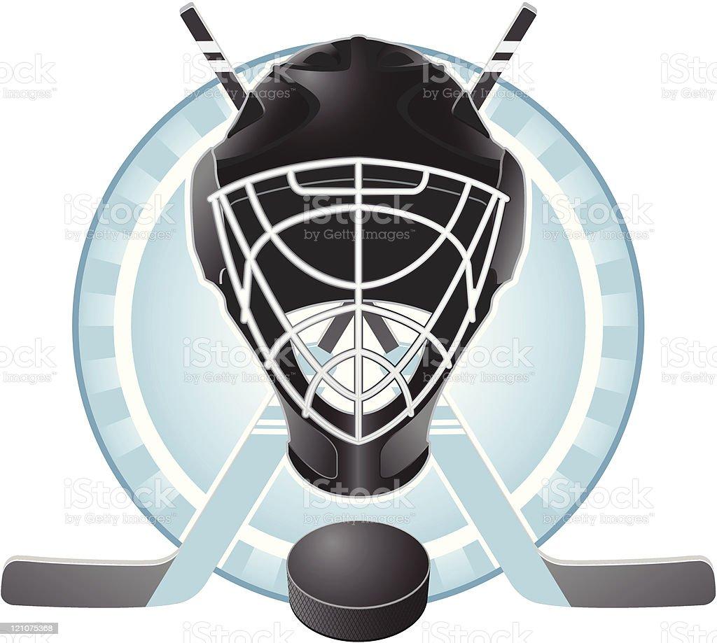 Hockey emblem royalty-free stock vector art