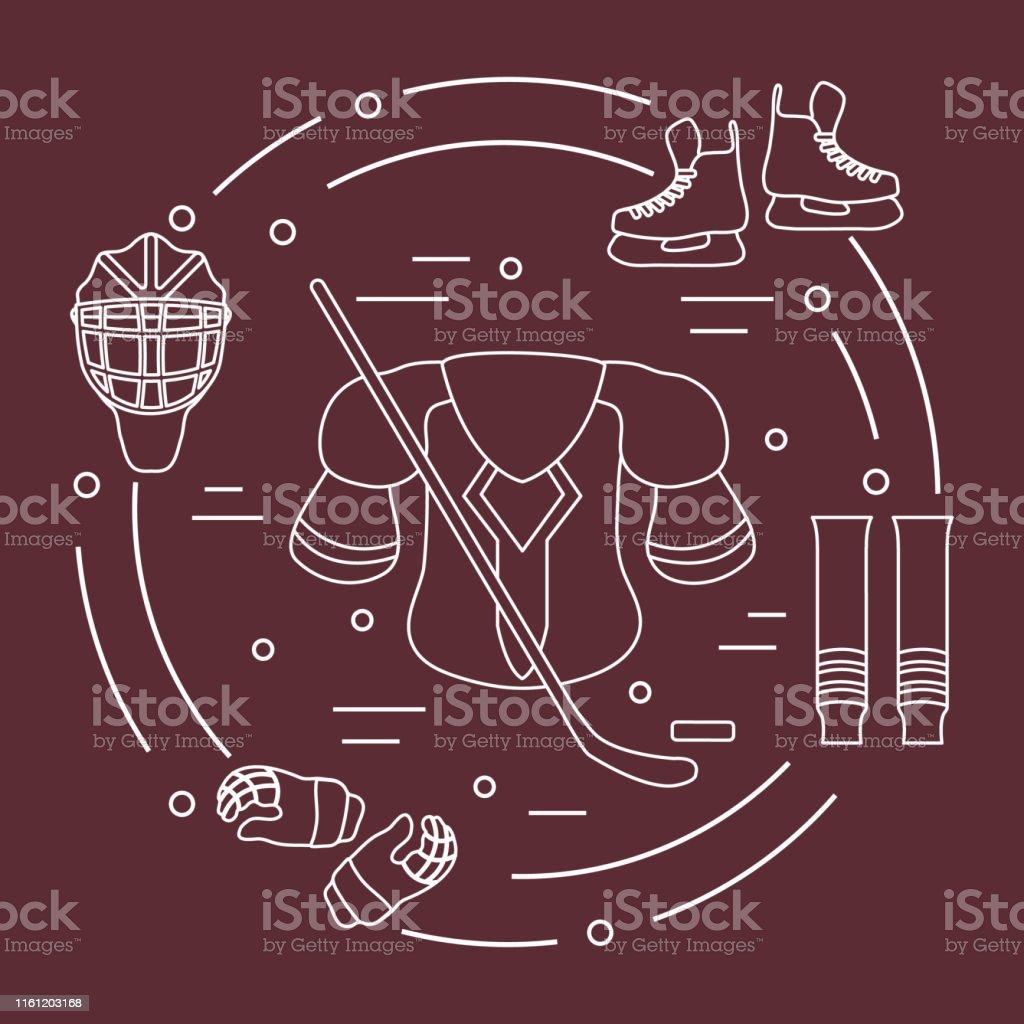Skates, gloves, helmet, shoulder pads, hockey stick, hockey socks,...