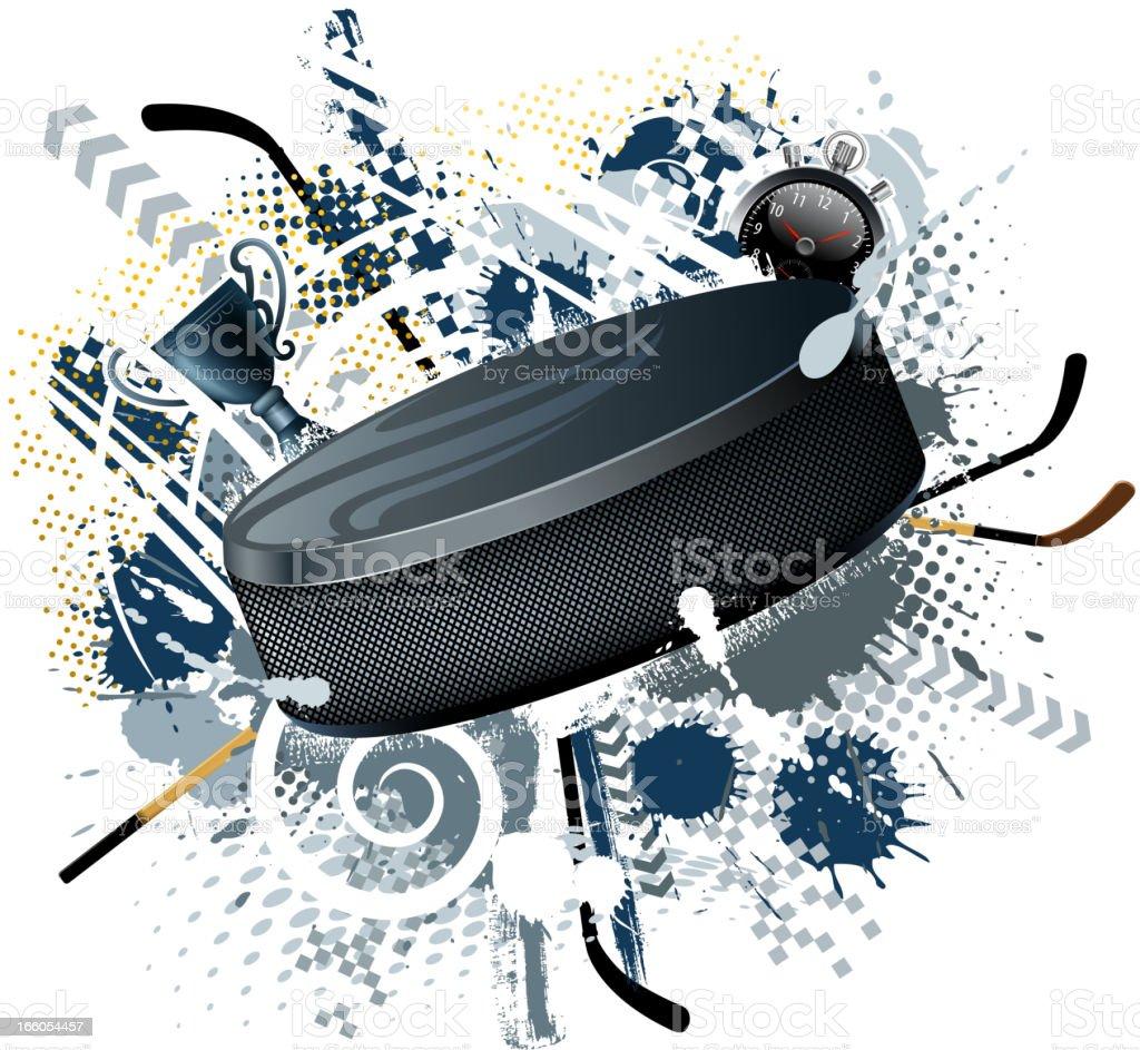 hockey exploding vector art illustration