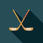 Hockey Flat Design Russia Icon