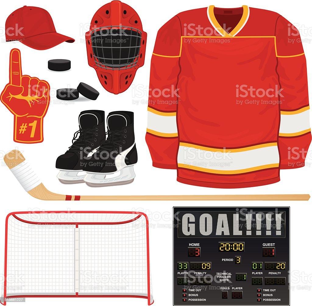 Hockey Gear vector art illustration