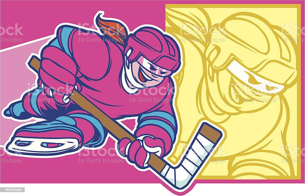 Hockey Girl royalty-free stock vector art