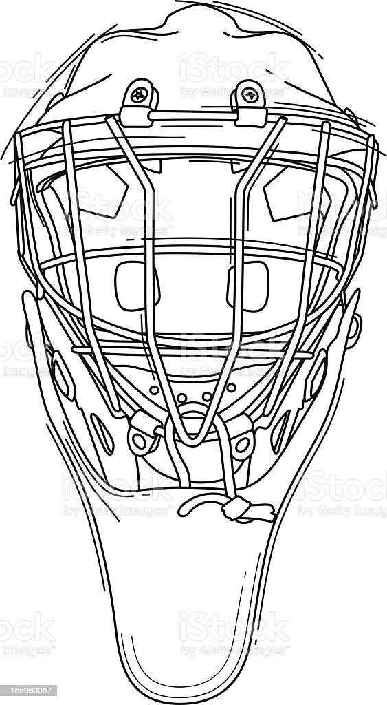 Hockey Goalie Helmet vector art illustration