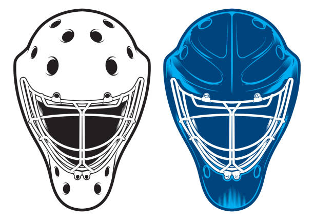 Best Goalie Mask Illustrations, Royalty-Free Vector Graphics