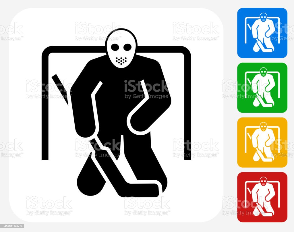 Hockey Goalie Icon Flat Graphic Design Stock Illustration Download