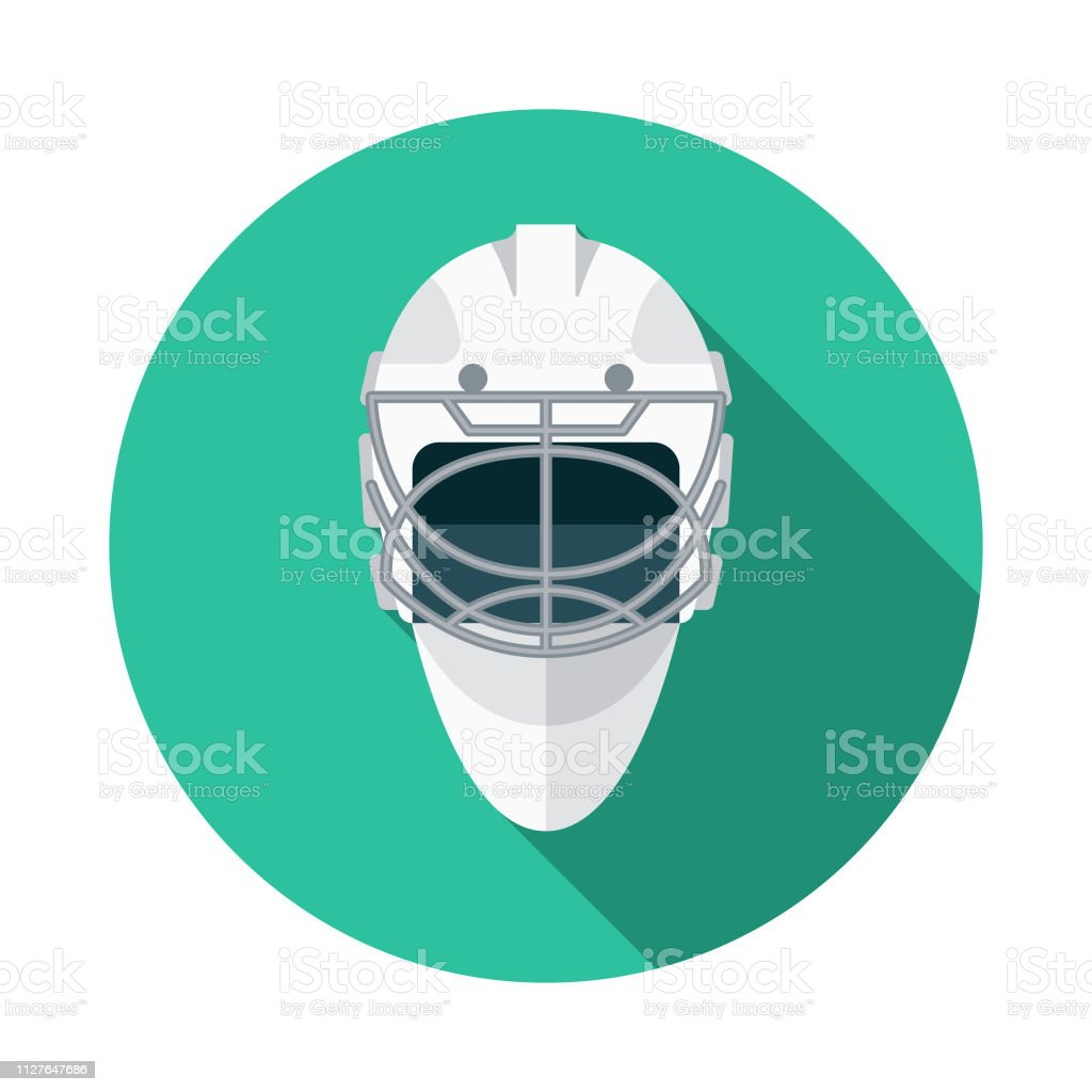 Hockey Goalie Mask Winter Sports Icon Stock Vector Art More Images