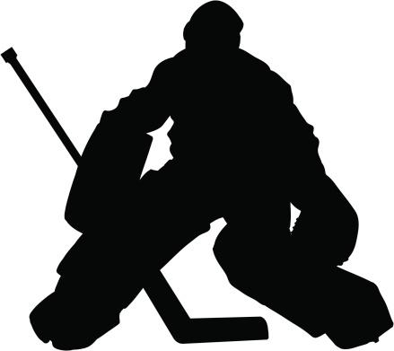 Hockey Goalie Slhouette
