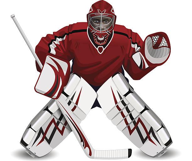 ilustraciones, imágenes clip art, dibujos animados e iconos de stock de portero de hockey - hockey