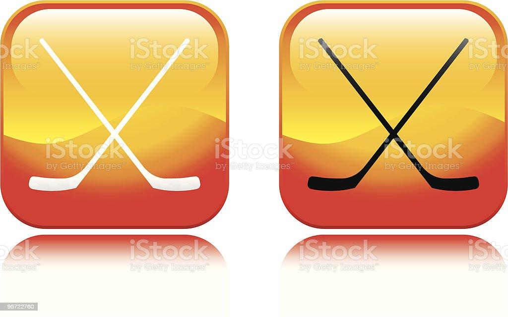 Hockey Icon royalty-free stock vector art