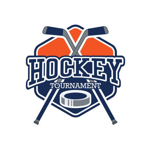 illustrations, cliparts, dessins animés et icônes de insigne de hockey, illustration vectorielle - hockey