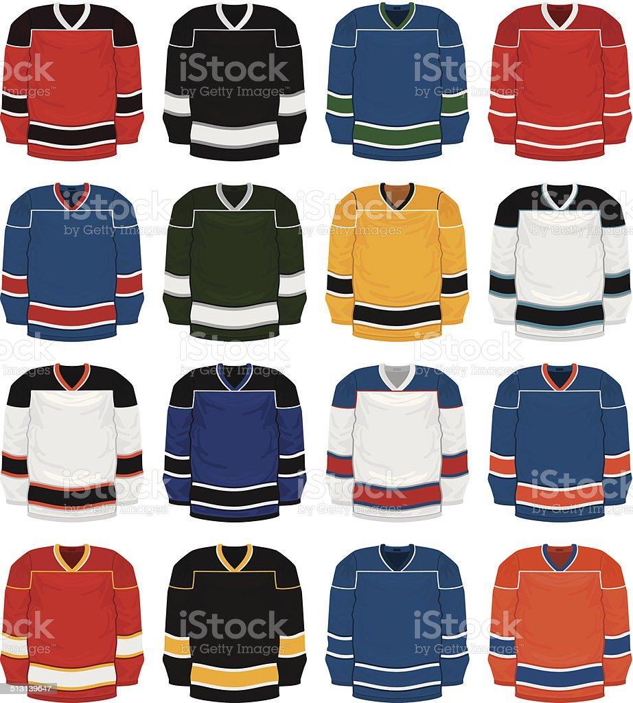 Hockey Jersey Set vector art illustration