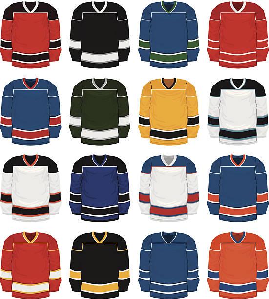 ilustraciones, imágenes clip art, dibujos animados e iconos de stock de jersey de hockey - hockey