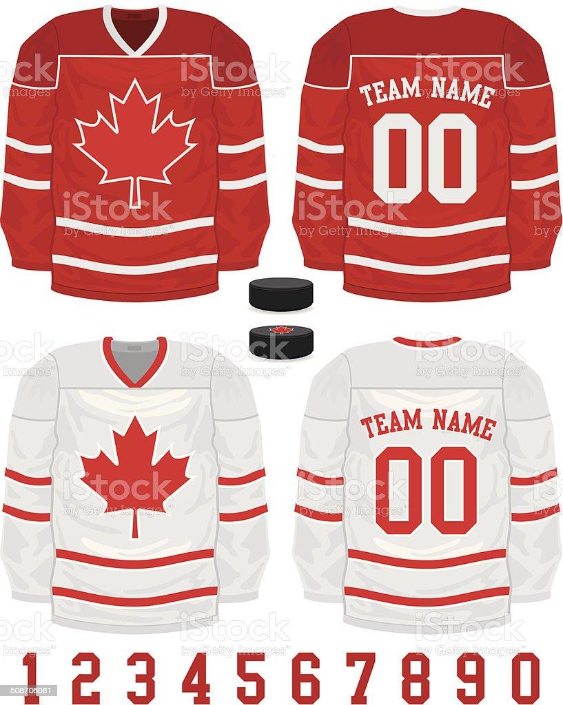 Hockey Jersey vector art illustration