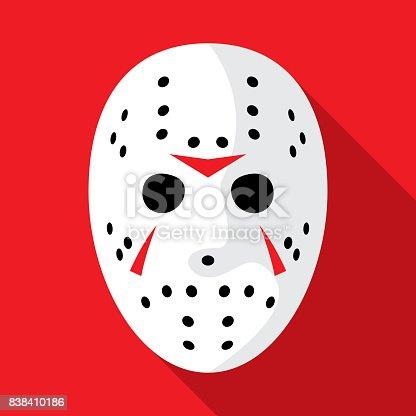 istock Hockey Mask Icon Flat 838410186