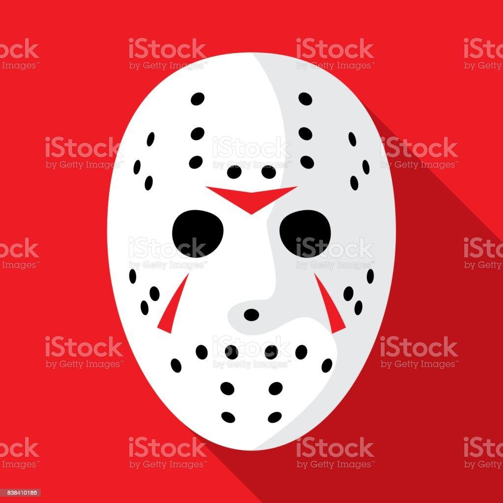 Hockey Mask Icon Flat vector art illustration