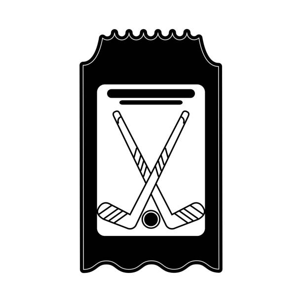 imagen de icono de hockey partido boleto - ilustración de arte vectorial