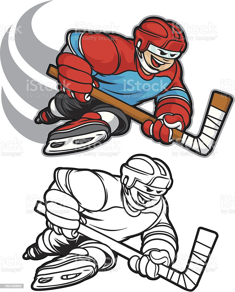 Hockey Player Boy royalty-free hockey player boy stock vector art & more images of adolescence