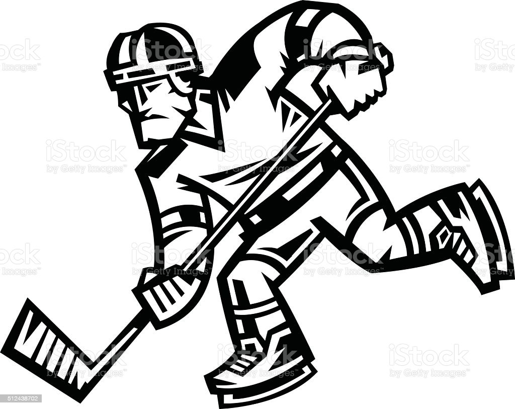 Dessin de hockey colorier les enfants - Dessin hockey sur glace ...