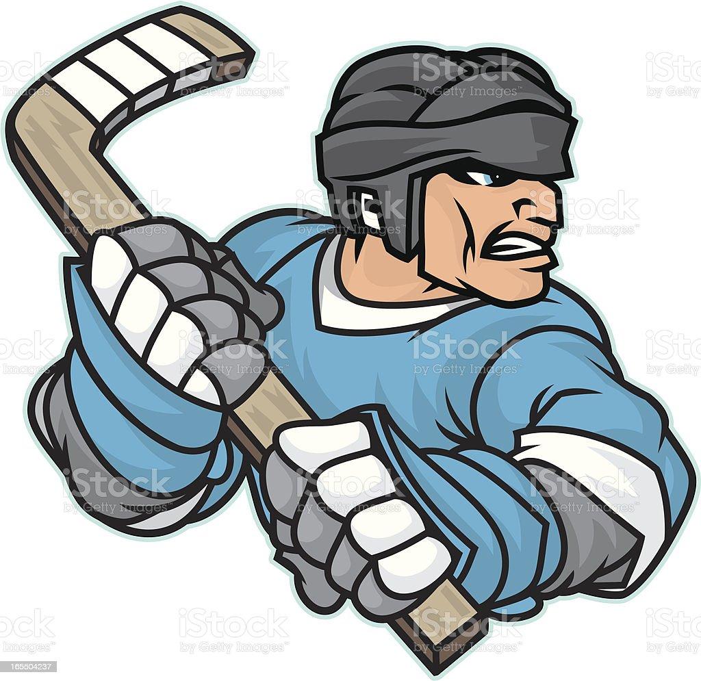 Hockey Player vector art illustration
