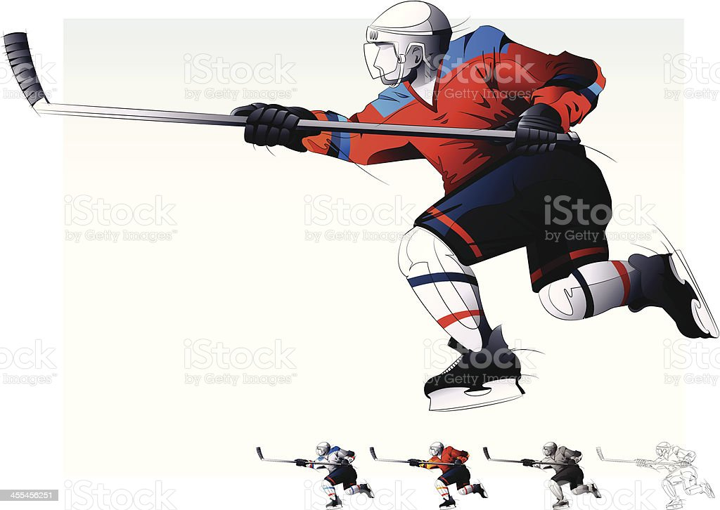 Hockey Player. royalty-free hockey player stock vector art & more images of cut out