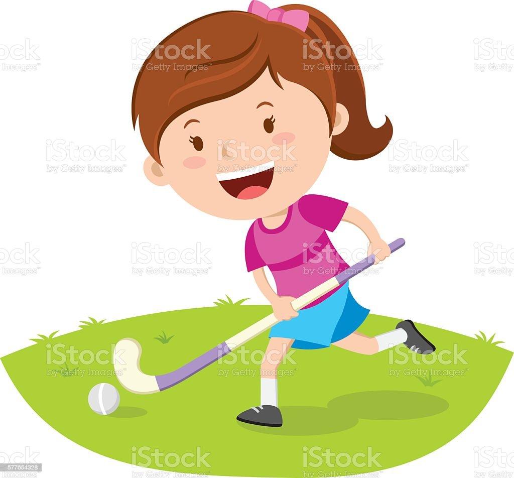Hockey-Spieler  - Lizenzfrei Aktivitäten und Sport Vektorgrafik