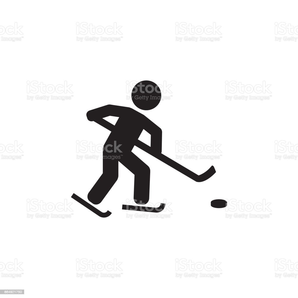 simple vector illustration of hockey player