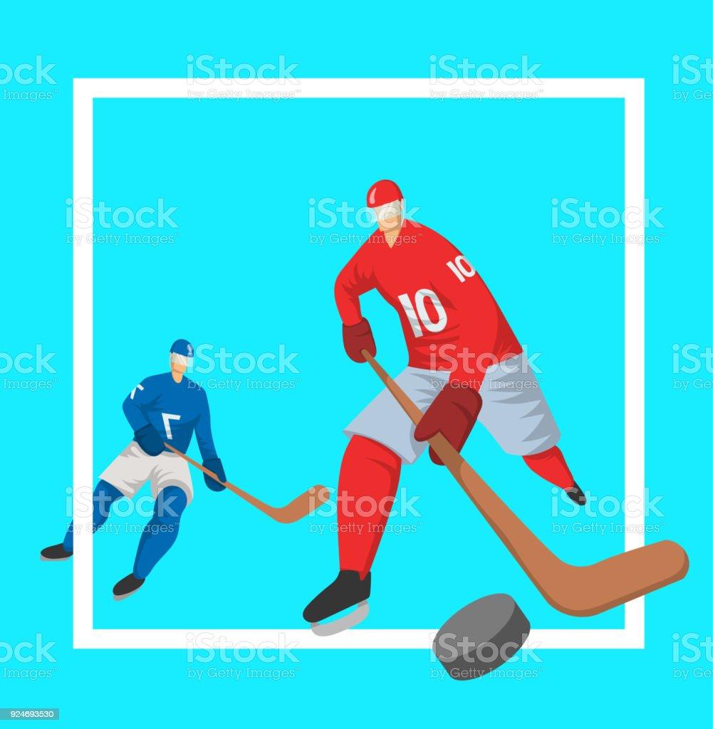 Hockeyspieler In Abstrakten Flachen Stil Vektor Illutration Vorlage ...