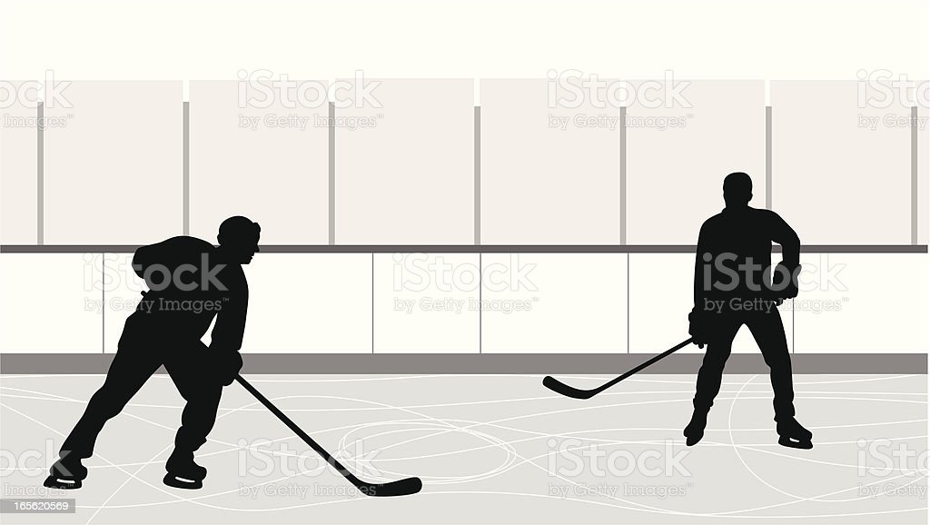 Hockey Practice Vector Silhouette royalty-free hockey practice vector silhouette stock vector art & more images of activity
