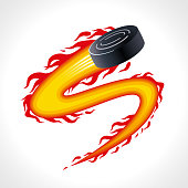 Hockey Puck with Extremely Fast Fire Effect