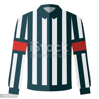 istock Hockey Referee Jersey Icon on Transparent Background 1284788353